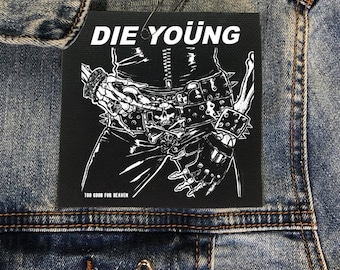 Motley Crue Die Young Patch, Nikki Sixx, Tommy Lee, Heavy Metal Patch, Vince Neil Patch, 80s Patch, Mick Mars, Rock Band Patch, Music Patch