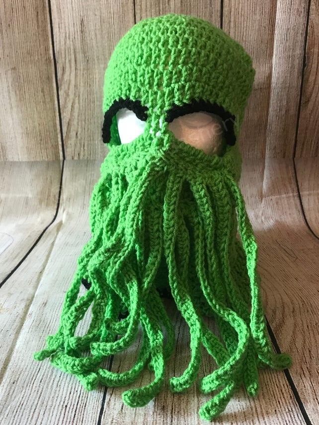 Cthulhu Ski Mask Crochet Octupus T