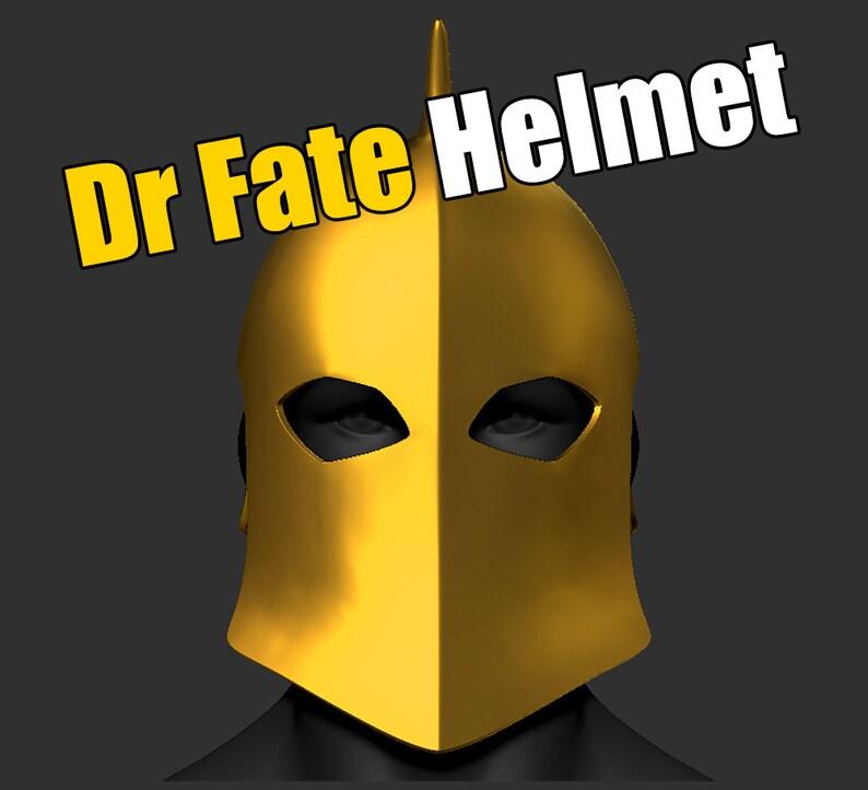 Dr Fate Helmet Full Head Dc Comic Cosplay STL File 3D print model Digital Download