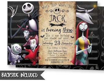 nightmare before christmas invitation nightmare before christmas birthday invitation party personalized diy printables digital