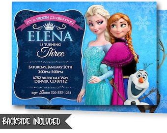 Frozen Birthday Invitation Frozen Invitation Frozen Birthday