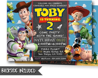 Toy Story Invitation-Toy Story Invite-Disney Pixar Toy Story Invitation-Toy Story Birthday Party-Woody-Buzz-Toy Story Party-Personalized