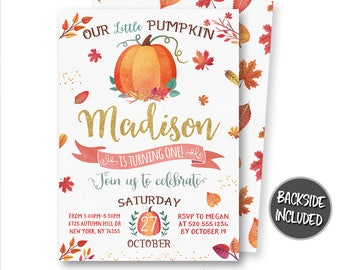 pumpkin baby shower pumpkin invitation my first halloween etsy
