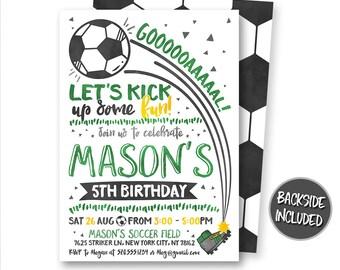 Soccer Birthday Invitation Ticket Invites Party Personalized Printables