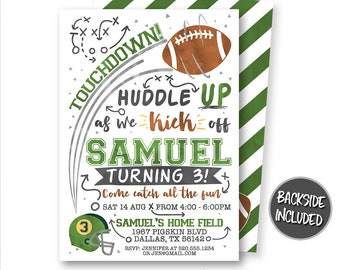 football birthday invitation football invitation football game invitation football invites footballl party personalized printables diy