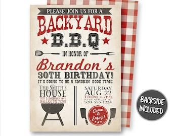 barbecue invitation etsy