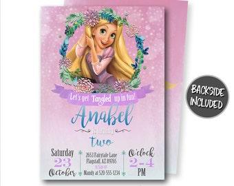Rapunzel invitations etsy tangled birthday invitation rapunzel invitation rapunzel party tangled personalized princess printables tangled invitations invites filmwisefo
