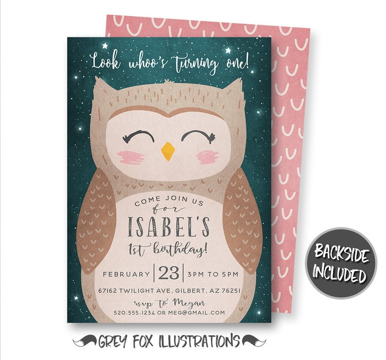 Owl Invitation Birthday Party