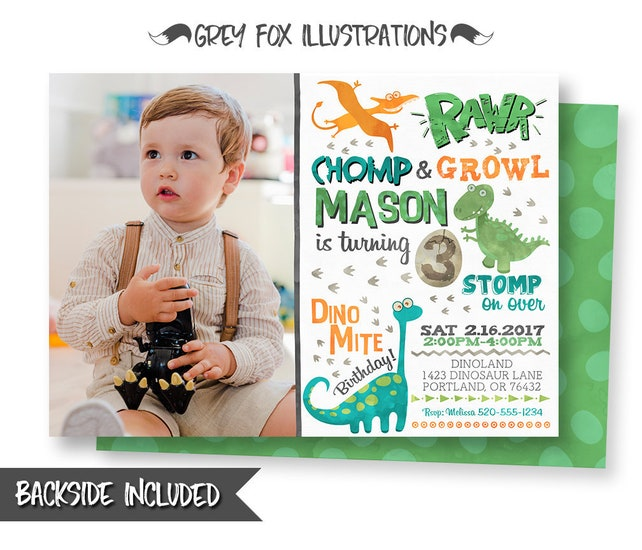 Dinosaur Birthday Invitation Picture T Rex Invitations Party Printables Personalized