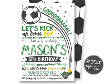Soccer Birthday Invitation, Soccer Invitation, Soccer Ticket Invitation, Soccer Invites, Soccer Party, Personalized, Printables