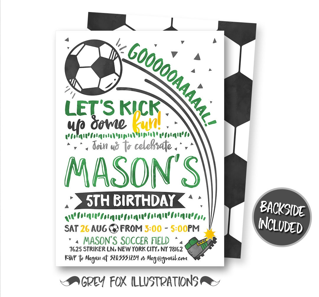 Soccer Birthday Invitation Soccer Invitation Soccer Ticket | Etsy