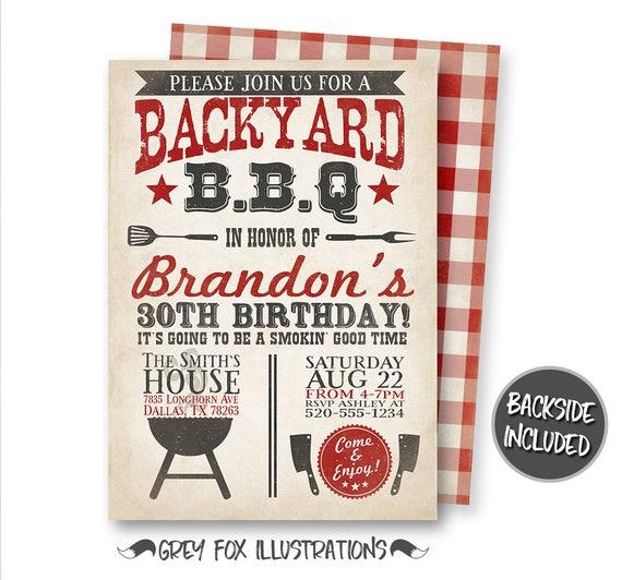 bbq invitation barbecue invitation backyard bbq invitation etsy