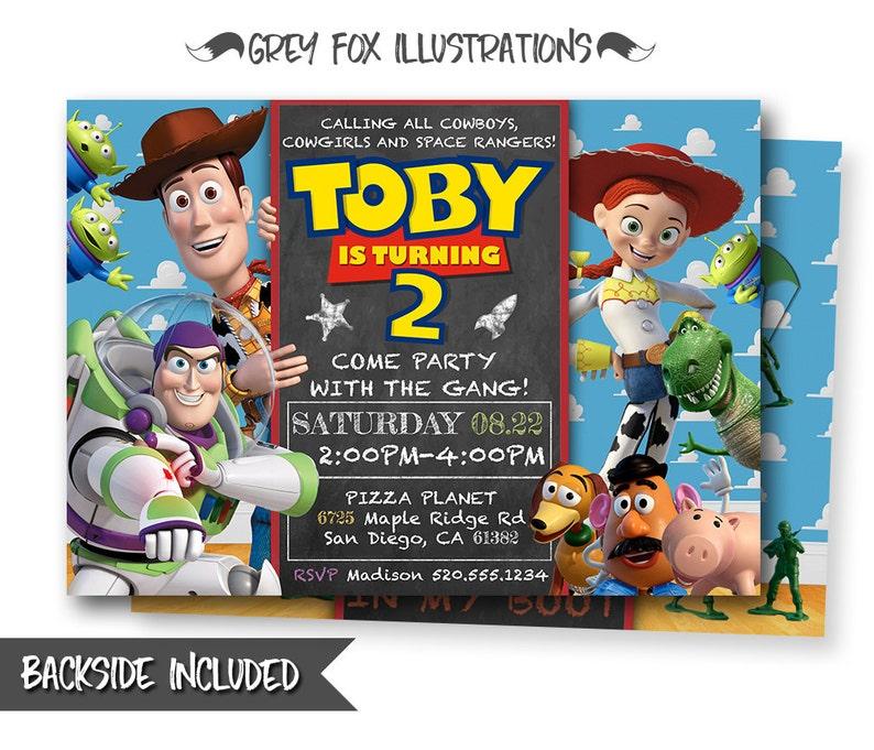 Toy Story Invitation Toy Story Invite Disney Pixar Toy Story Etsy