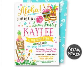 aloha invitations etsy