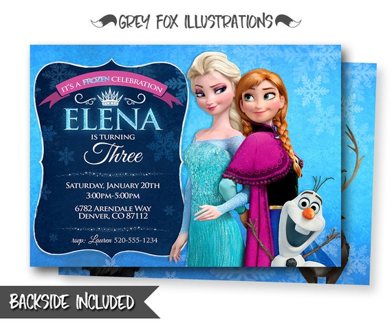 Frozen Invitation Frozen Birthday Invitation Elsa