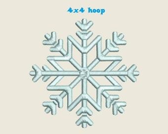 Snowflake Digitized filled Machine Embroidery Design Digital Download