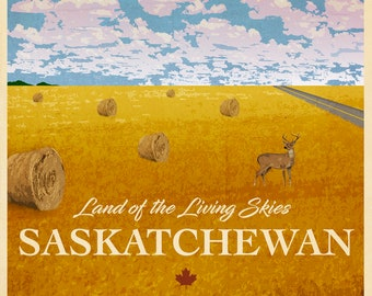 Saskatchewan Travel Poster