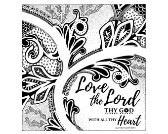"Love the Lord - 5.125"" x 5.125"" Giclée Print"