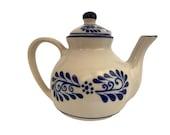 Ceramic Tea Kettles Tea Pot 3-Cup Teapot 700ml 23 ounces - Tetera Colonial White