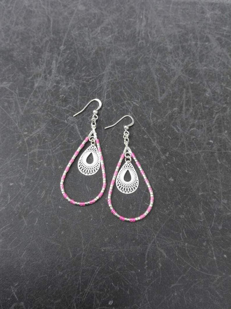 Earrings beads Miyuki