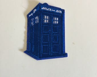 Tardis Doctor Who Inspired Patch Iron On Sew On