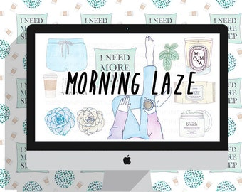 lazy morning planner clipart, planner girl stickers kit, beauty clipart, fashion, flower,floral,coffee,cosmetic, watercolor clipart