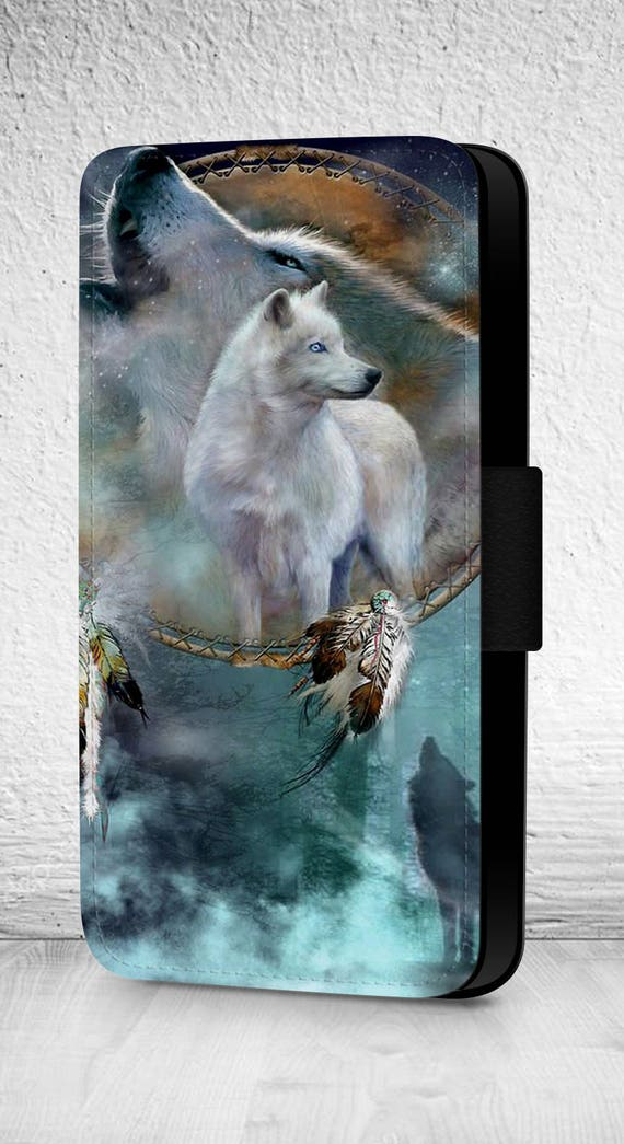 Arctic Wolf Huskey Dream Catcher iphone case