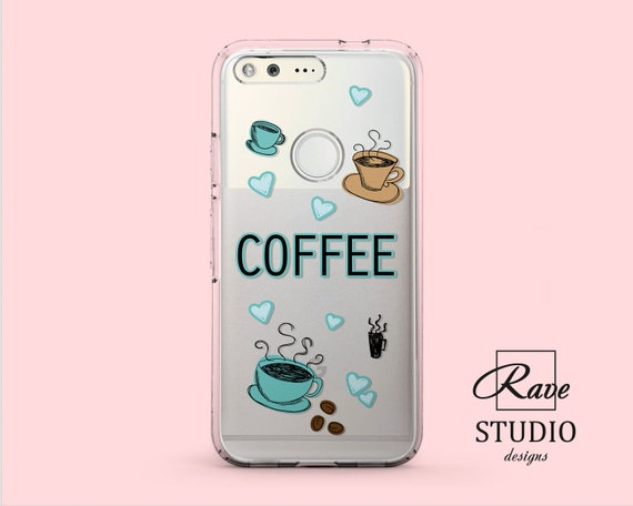 Coffee phone case Huawei p20 pro case LG G7 Google Pixel 3 Xl Coffee  painting LG v30 Pixel cases clear Huawei p10 cover v20 Honor 9 mate 2