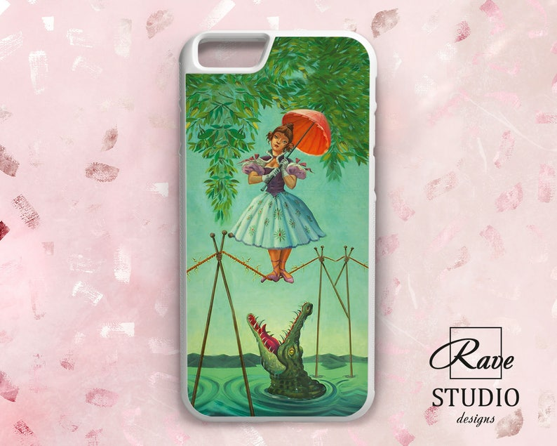 outlet store 6f0da 8dae3 Girl with umbrella iPhone 8 plus case Alligator phone case iPhone 7  Tightrope Walker Rubber case iPhone 5s cover iPhone Xs Max Xr cute 6 5 X
