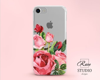 Rose IPhone 6s Case IPhone 8 Plus Flowers Phone Case IPhone 7 Case Clear  Floral IPhone 5 Case IPhone Case 10 IPhone SE Cover Cell Phone Case