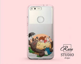 My neighbor Totoro Google Pixel 2 Xl Anime phone case Huawei p10 cover Cute phone LG G7 Pixel Xl case Honor 9 case LG v20 case Miyazaki art