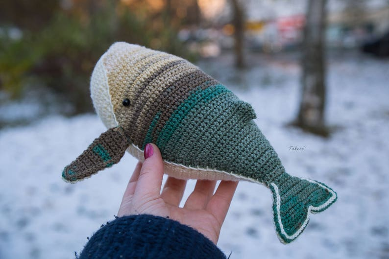 Whale crochet toy made to order