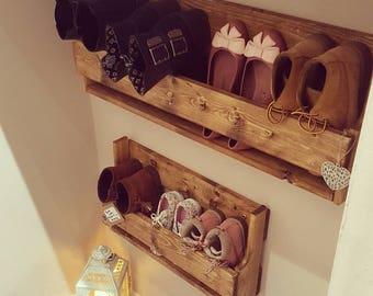 Reclaimed Wooden Shoe Racks Rustic Vintage Shoe Display Etsy