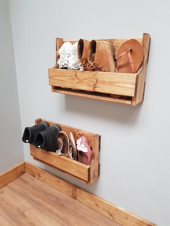 Bookcase Made From Reclaimed Pine Rustic Bespoke  Handmade Shoe Rack