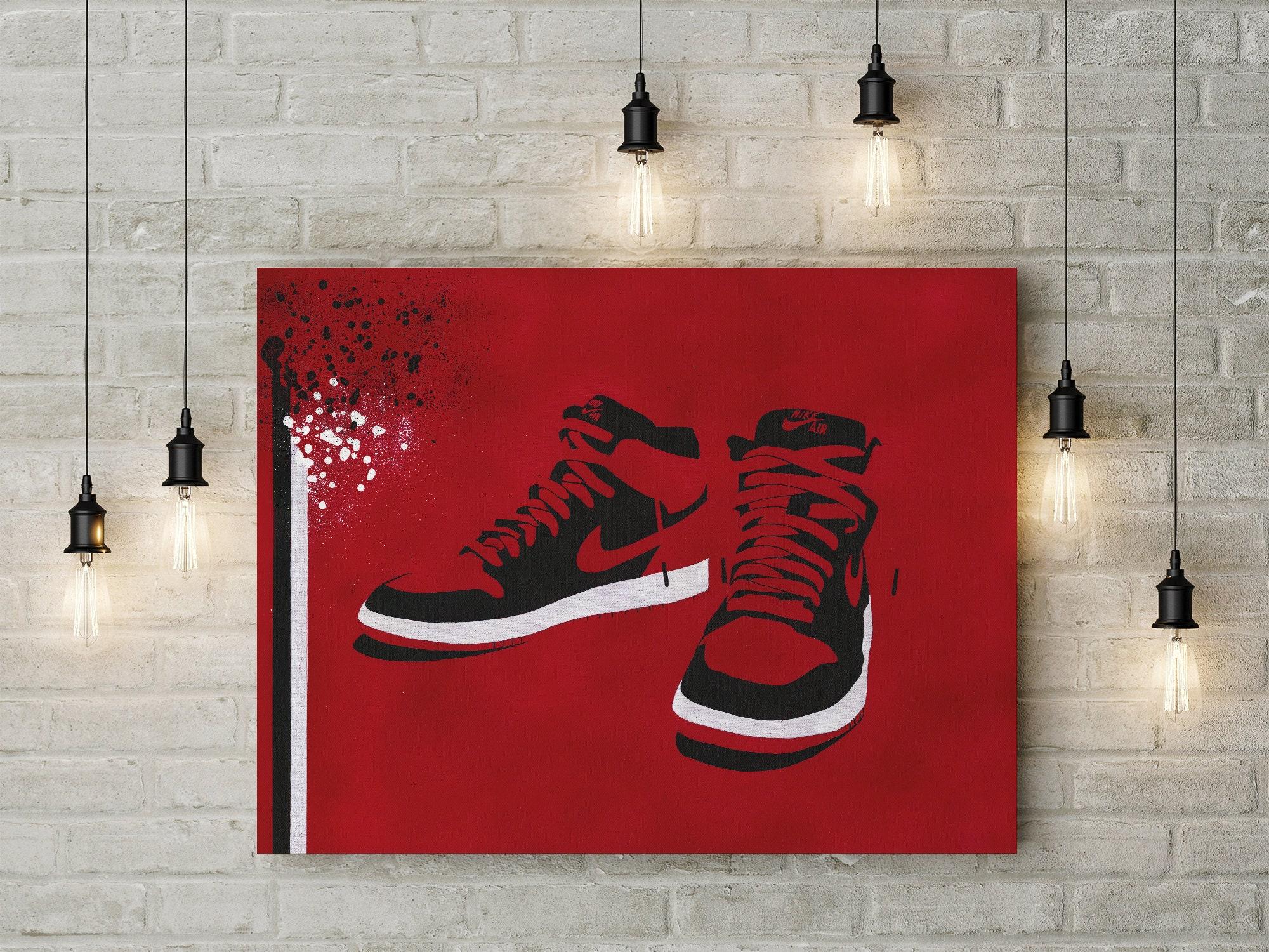 half off 2d0ba 62b1a Nike Air Jordan Druck. Limitierte Auflage. Air Jordan   Nike   Etsy