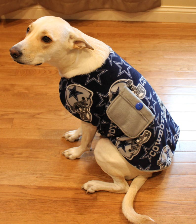 reputable site 6a11f 7a81f Dallas Cowboys Dog Vest Pet Coat Outfit