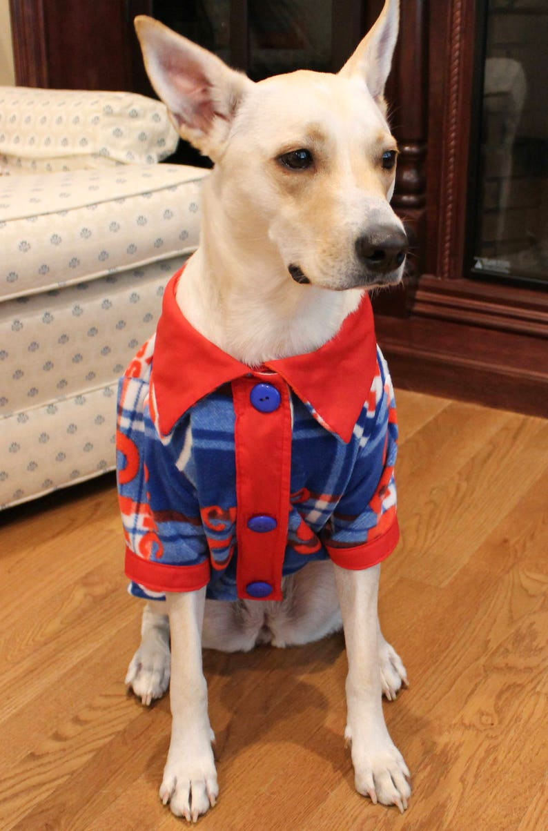 new arrival ec456 72320 Chicago Cubs Dog Shirt, Chicago Cubs Dog Vest, Cubs Fleece Dog Coat Outfit