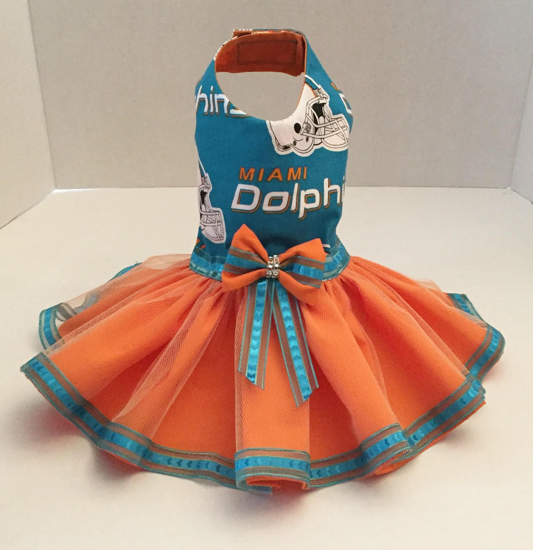 Nice Miami Dolphins Dog Dress Dog TuTu Dress Miami Dolphins Tulle | Etsy  free shipping