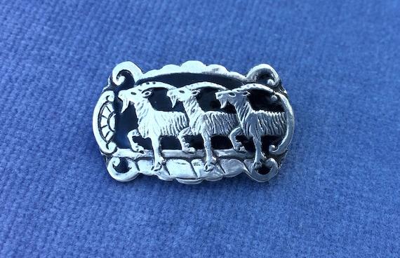 Broschen & Nadeln Antikschmuck David Andersen Norwegen Sehr Schöne Seltene Emaille Brosche Aus 925 Silber
