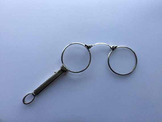Lorgnettes. Antique Pinznez. Sterling Silver 925 L