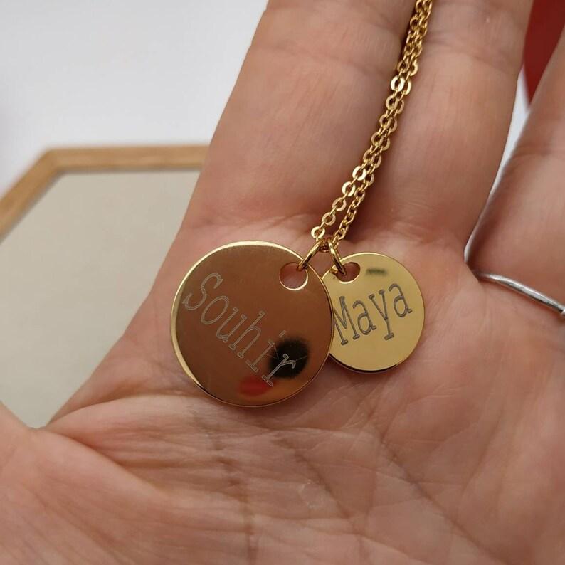 3ae5e148cec05 Collier chaine Pendentif médaille ronde 15mm 20mm à graver | Etsy