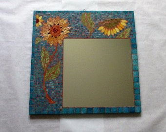 "Mirror mosaic ""Sunflowers"""