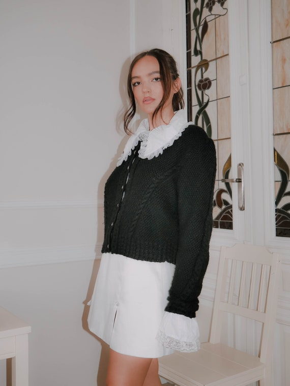 1980s vintage black knit - image 3