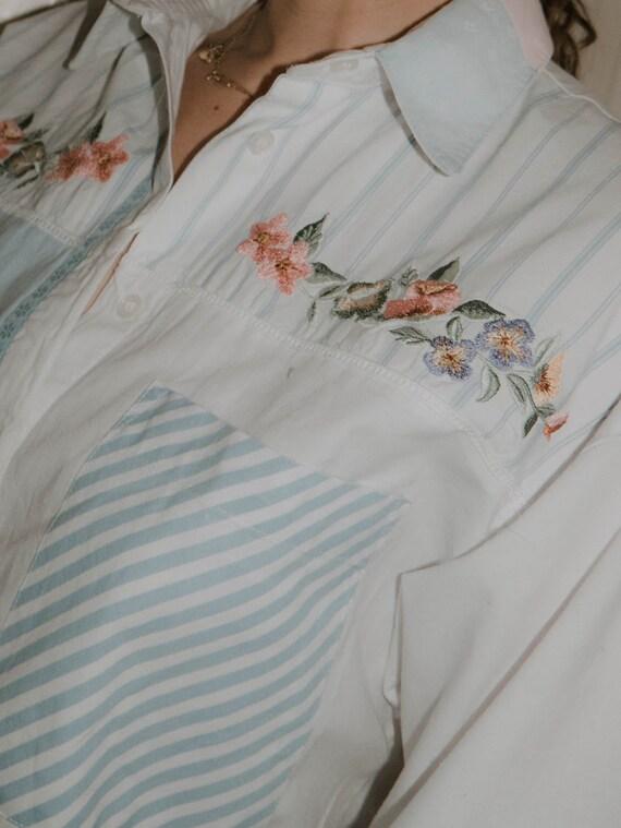 Vintage Cotton Blouse Angelic Fairycore Dreamy - image 1