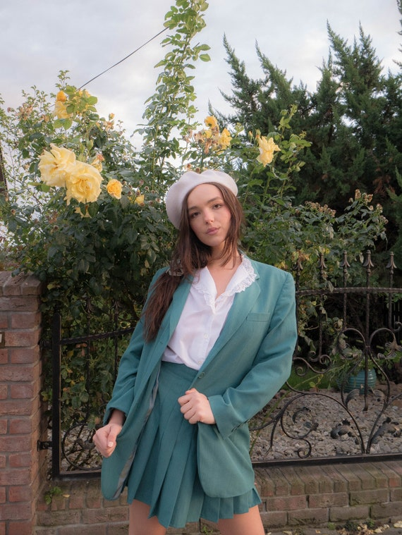 True vintage schoolgirl green suit