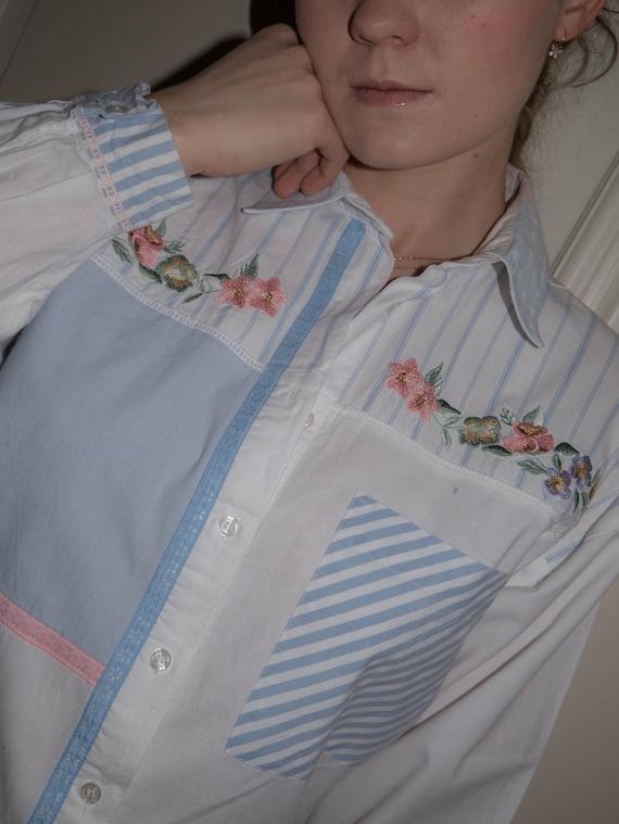 Vintage Cotton Blouse Angelic Fairycore Dreamy - image 3