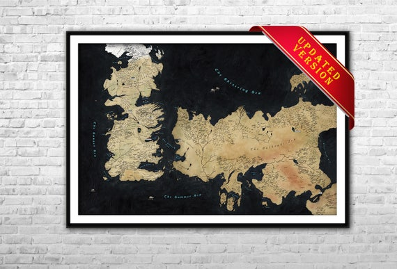 Game of Thrones map - Westeros Map Essos map Archival Paper Canvas Game O Thrones Map on sons of anarchy, fire and blood, gendry map, the kingsroad, themes in a song of ice and fire, a game of thrones collectible card game, clash of kings map, justified map, dallas map, a storm of swords map, valyria map, the prince of winterfell, world map, downton abbey map, star trek map, jericho map, a storm of swords, lord snow, camelot map, guild wars 2 map, spooksville map, winter is coming, walking dead map, a clash of kings, narnia map, a game of thrones, jersey shore map, winterfell map, bloodline map, a game of thrones: genesis, works based on a song of ice and fire, game of thrones - season 1, the pointy end, a golden crown, got map, game of thrones - season 2, tales of dunk and egg, qarth map,