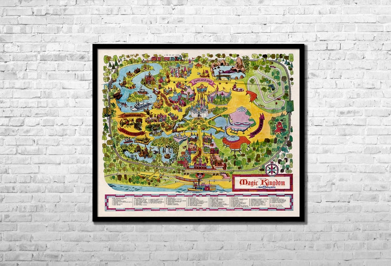 photo regarding Printable Magic Kingdom Map known as Disneyland Earth Magic Kingdom Map 1971 - High 33x40\
