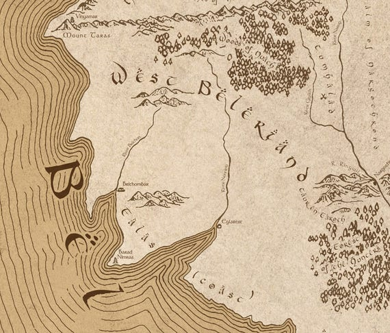 Beleriand map - Lord of the Rings Detailed map Middle Earth map art on mirkwood map, frodo baggins, rohan map, the lord of the rings, bilbo's map, hobbit map, the hobbit, j. r. r. tolkien, the shire map, rivendell map, tolkien map, dol guldur map, mordor map, beleriand map, silmarillion map, moria map, wheel of time map, gundabad map, gondor map, minas tirith map, eriador map, lord of the rings map, star trek map,