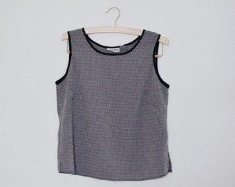 Vintage Checked Tank Top